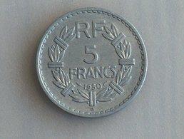 France 5 Francs LAVRILLIER, ALUMINIUM 1950 B - France