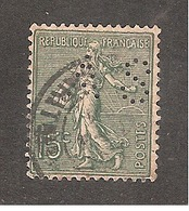 Perforé/perfin/lochung France No 130 AS Albert Schmit - Perforés