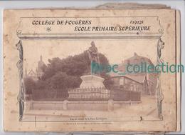 Fougères, Collèges De Fougères, école Primaire Supérieure, 1912, 20 Photos élèves, Professeurs, Personnel - Bretagne
