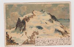 Monte Rosa Vom Gornergrat (VB) , Illustrata Da Zeno Diemer - F.p. - Anni '1900 - Verbania