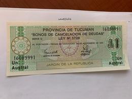 Argentina 1 Austral Unc Banknote 1991 #1 - Argentine