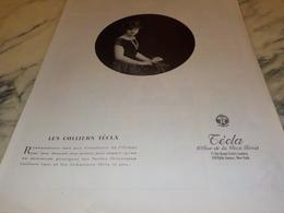 ANCIENNE PUBLICITE COLLIERS  TECLA 1924 - Joyas & Relojería
