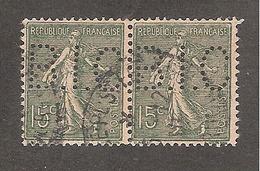 Perforé/perfin/lochung France No 130 B.I.C Banque Franco-Chinoise Pour Le Commerce Et L'Industrie - Perforés