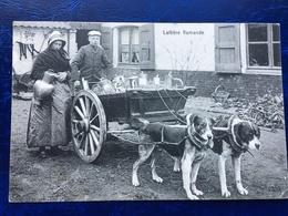 """""""Laitière Flamande Et Fils Avec Attelage De Chiens """"(2369)--""""Feldpost-19/12/1914"""" - Artisanat"""