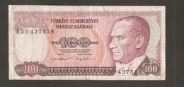 TURCHIA 100 LIRI 1970 - Turchia