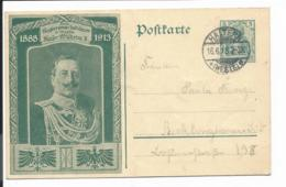 DR PP  27 C 243-02 - 5 Pf Germ. 25. Jähr. Regierungsjubiläum Wilhelm V. Haltern N. Recklinghausen Bedarfsverwendet - Germany