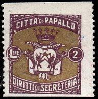 Marca Comunale Della Città Di Rapallo - 1900-44 Vittorio Emanuele III