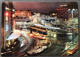 Zürich Central Tram/ Oldtimer Autos / Nachtbeleuchtung/im Winter - ZH Zurich