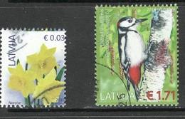 Letland 2016, Yv  945 + 956, Hogere Waarde,   Gestempeld - Letland