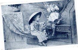 CPA - Deux Enfants Fantaisie Japonaise- écrite  - - Groupes D'enfants & Familles