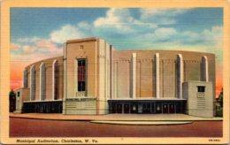 West Virginia Charleston Municipal Auditorium Curteich - Charleston