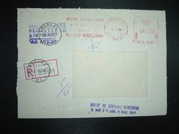 LR EMA à 06500 Du 12 11 82 WARSZAWA 1 + BANK HANDLOWY + Griffe Violette De Contrôle - Machine Stamps (ATM)