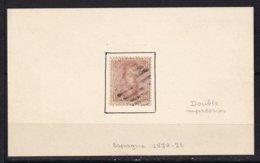ESPAGNE - 40 C. Brun De 1872/73 Double Impression Dont Une Tête-bêche Oblitéré TB - 1872-73 Reino: Amadeo I