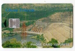 GHANA REF MV CARDS GHA-39 150U AKASOMBO DAM Date 10/2000 - Ghana