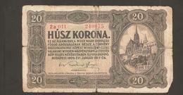 AUSTRO UNGARICO 20 KORONA 1920 - Ungheria