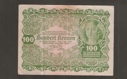 AUSTRO UNGARICO 100 KRONEN  1922 - Austria