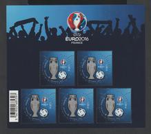 BLOC - 137 -  2016  -    Championnat D' Europe UEFA  De Football En France    -  Neuf  -    Non Plié  - - Ungebraucht