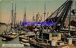 132678 ARGENTINA BUENOS AIRES PUERTO MADERO DIQUE Nº 3 SHIP  POSTAL POSTCARD - Belize