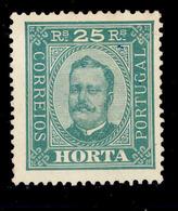 ! ! Horta - 1892 D. Carlos 25 R (Perf. 13 1/2) - Af. 05 - No Gum - Horta