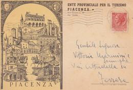 PIACENZA-ENTE PROVINCIALE PER IL TURISMO-CARTOLINA VIAGGIATA IL 24-12-1955 - Piacenza
