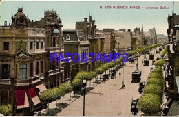 132706 ARGENTINA BUENOS AIRES AVENIDA CALLAO & TRANVIA TRAMWAY  POSTAL POSTCARD - Belize