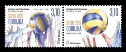 Bosnia And Herzegovina (Croatian) 2019 Mih. 519/20 Volleyball MNH ** - Bosnia Herzegovina