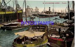 132718 ARGENTINA BUENOS AIRES EL PUERTO PORT & SHIP POSTAL POSTCARD - Belize