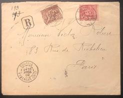 Lettre Recommandé 0fr 70c Mixte Sage N/B Mouchon N°104 & 113 Obl De Sournia Pour  Paris TTB - 1898-1900 Sage (Type III)