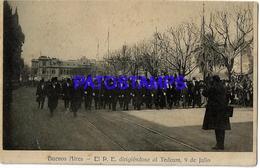 132722 ARGENTINA BUENOS AIRES EL PRESIDENTE DIRIGIENDOSE AL TEDEUM 9 DE JULIO POSTAL POSTCARD - Belize