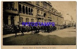 132724 ARGENTINA BUENOS AIRES COSTUMES DESFILE 9 DE JULIO POSTAL POSTCARD - Belize