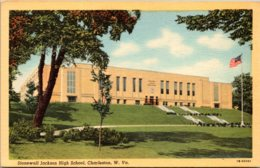 West Virginia Charleston Stonewall Jackson High School Curteich - Charleston