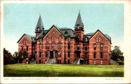Michigan East Lansing Wells Hall Michigan Agricultural College Detroit Publishing - Lansing