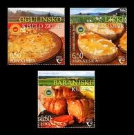 Croatia 2020 Mih. 1463/65 Gastronomy. National Cuisine MNH ** - Croacia