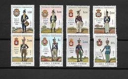 Cabo Verde 1965 - Uniformes Do Exército - Serie Completa Nova - Cap Vert