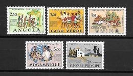 Portugal África - CCTASSl (Angola, Cabo Verde, Guiné, Moçambique, S Tomé - Serie Completa - Afrique Portugaise