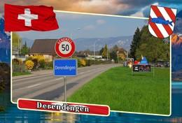 Postcard, REPRODUCTION, Municipalities Of Switzerland, Derendingen 1 - Cartes Géographiques