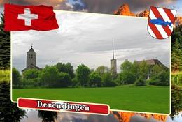 Postcard, REPRODUCTION, Municipalities Of Switzerland, Derendingen 2 - Cartes Géographiques