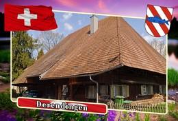 Postcard, REPRODUCTION, Municipalities Of Switzerland, Derendingen 3 - Cartes Géographiques