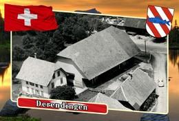 Postcard, REPRODUCTION, Municipalities Of Switzerland, Derendingen 4 - Cartes Géographiques