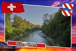 Postcard, REPRODUCTION, Municipalities Of Switzerland, Derendingen 5 - Cartes Géographiques