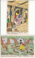 CPA Fantaisie - Walt Disney - Blanche Neige Et Les 7 Nains - Carte Luxe Découpée - Contes, Fables & Légendes