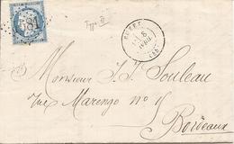LOT ET GARONNE (45) LAC De  BUZET  GC 4581  Sur CERES  Pour BORDEAUX - Postmark Collection (Covers)