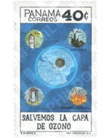 Ref. 160812 * MNH * - PANAMA. 1992. SAVE THE OZONE LAYER . SALVEMOS LA CAPA DE OZONO - Environment & Climate Protection