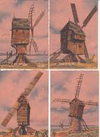 CPA Fantaisie - MOULINS A VENT -  Collection De 8 Cartes Artistiques De BARDAY - Barday