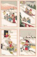 CPA Fantaisie - LES ANGELOTS -  Collection De 8 Cartes Artistiques De Gaston MARECHAUX - Autres Illustrateurs