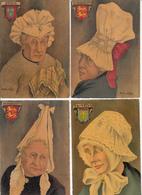 CPA Fantaisie - COIFFES REGIONALES -  Collection De 8 Cartes Artistiques De André STEFAN - Autres Illustrateurs
