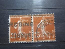 """VEND BEAUX TIMBRES DE FRANCE N° 235 EN PAIRE , OBLITERATION """" TOURCOING """" !!! - 1906-38 Semeuse Camée"""