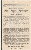 Langdorp, 1940, Maria Hendrickx, Huysegems - Imágenes Religiosas