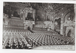 MONTE CARLO - N° 142 - SALLE DE THEATRE - LOGE DU PRINCE - CPA NON VOYAGEE - Opernhaus & Theater