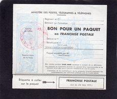 France : Franchise Militaire Pour Colis N°14 - Militaire Zegels (zonder Portkosten)